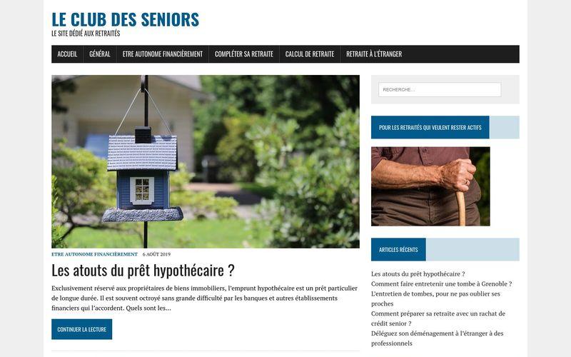 Le club des seniors - Le site dédié aux retraités