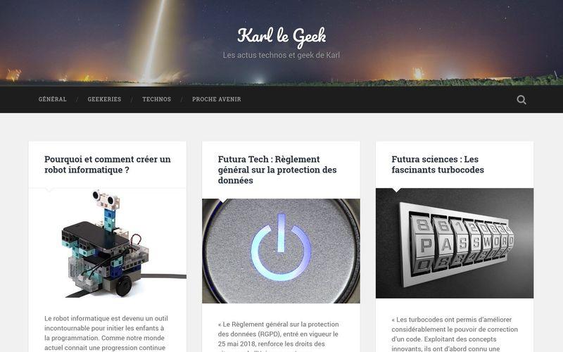Karl le Geek - Les actus technos et geek de Karl
